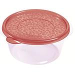 Контейнер для продуктов круглый 1,75 л 19,7*9см п/п бордовый фото, купить в Липецке | Uliss Trade