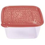 Контейнер для продуктов квадр. 2,1 л 19*19*9см п/п бордовый фото, купить в Липецке | Uliss Trade