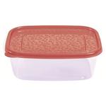 Контейнер для продуктов прямоуг. 1,25 л 21*16*7,5см п/п бордовый фото, купить в Липецке | Uliss Trade