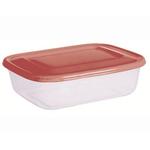 Контейнер для продуктов прямоуг. 3,4 л 29*19*8,5см п/п бордовый фото, купить в Липецке | Uliss Trade