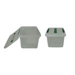 Контейнер для продуктов прямоуг. 8 л 30*23*16 см с ручкой с зеленым зажимом фото, купить в Липецке | Uliss Trade