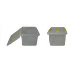 Контейнер для продуктов прямоуг. 8 л 30*23*16 см с ручкой с желтым зажимом фото, купить в Липецке | Uliss Trade