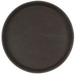 Поднос прорезиненный круглый 270х25 мм коричневый фото, купить в Липецке | Uliss Trade