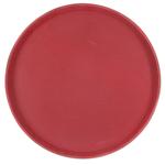 Поднос прорезиненный круглый 350х25 мм бордовый фото, купить в Липецке | Uliss Trade