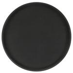 Поднос прорезиненный круглый 350х25 мм черный фото, купить в Липецке | Uliss Trade