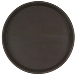 Поднос прорезиненный круглый 350х25 мм коричневый фото, купить в Липецке | Uliss Trade