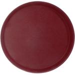 Поднос прорезиненный круглый 400х25 мм бордовый фото, купить в Липецке | Uliss Trade