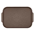 Поднос столовый 450х355 мм с ручками темно-коричневый фото, купить в Липецке | Uliss Trade