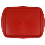 Поднос столовый из полипропилена 490х360 мм красный фото, купить в Липецке | Uliss Trade