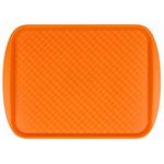 Поднос столовый из полистирола 450х350 мм оранжевый фото, купить в Липецке | Uliss Trade