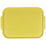 Поднос столовый из полистирола 450х355 мм желтый фото, купить в Липецке | Uliss Trade