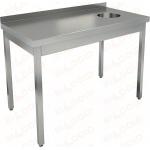 Стол производственный пристенный с бортом для сбора отходов HICOLD НДСО-14/7БП