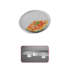 Противень для пиццы d 33см h4см, нерж.сталь, на ножках фото, купить в Липецке | Uliss Trade