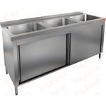 Стол производственный закрытый купе с моечными ваннами HICOLD НСЗК3М-18/7Б фото, купить в Липецке | Uliss Trade