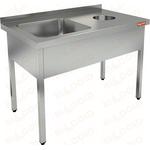 Ванна моечная с отверстием для сбора отходов HICOLD НДСО1М-12/7БЛ фото, купить в Липецке | Uliss Trade