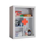 Аптечка медицинская металлическая AMD-39G со стеклянной дверцей фото, купить в Липецке | Uliss Trade