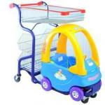 Детская тележка-автомобильчик для покупок в супермаркете