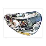 Зеркало сферическое, треугольное 330х330х360 мм