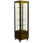 Кондитерская холодильная витрина Полюс R400Свр Carboma Люкс (шоколадно-золотистый) фото, купить в Липецке | Uliss Trade
