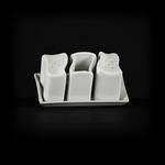 Набор для специй Волна «Chan Wave» (соль, перец, зубочистки) фото, купить в Липецке | Uliss Trade