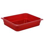 Гастроемкость GN 1/2 h=65 п/п красная фото, купить в Липецке | Uliss Trade
