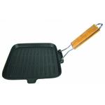 Сковорода чугунная гриль  с дерев. ручкой 26х26 см фото, купить в Липецке | Uliss Trade