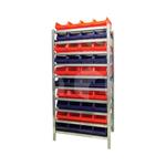 Комплект стеллажный полочный на безболтовом соединении с ящиком (40 шт.) фото, купить в Липецке | Uliss Trade