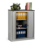 Шкаф архивный офисный КД-142 (2 полки) с дверьми-жалюзи фото, купить в Липецке | Uliss Trade