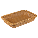 Корзинка пластиковая 300х450х80 мм прямоугольная коричневая фото, купить в Липецке | Uliss Trade