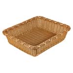 Корзинка пластиковая 450х400х110 мм прямоугольная коричневая фото, купить в Липецке | Uliss Trade