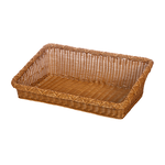 Корзинка пластиковая 600х400х90 мм прямоугольная коричневая фото, купить в Липецке | Uliss Trade