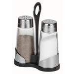 Набор для специй (соль, перец) на пластиковой подставке Luxstahl фото, купить в Липецке | Uliss Trade