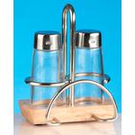 Набор для специй (соль, перец) + салфетница на деревянной подставке Luxstahl фото, купить в Липецке | Uliss Trade