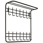 Вешалка настенная двухъярусная 1100-П фото, купить в Липецке | Uliss Trade