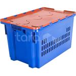 Пластиковый ящик с крышкой 600x400x365 (перфорированный) фото, купить в Липецке | Uliss Trade