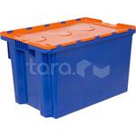 Пластиковый ящик с крышкой 600x400x365 (сплошной) фото, купить в Липецке | Uliss Trade