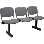 Секция стульев Изо трёхместная на раме фото, купить в Липецке | Uliss Trade
