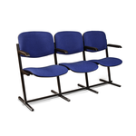 Секция стульев Визо трёхместная с подлокотниками с откидным сидением фото, купить в Липецке | Uliss Trade