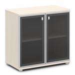 Шкаф со стеклом в алюминиевом профиле фото, купить в Липецке | Uliss Trade