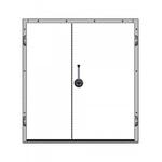 Дверь распашная двустворчатая НТ-РДД-2000*2300/2400*2550/120/40/Н/З/БП фото, купить в Липецке | Uliss Trade