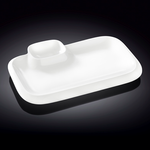 Блюдо прямоугольное l=360*215 мм. с соусником Wilmax фото, купить в Липецке | Uliss Trade