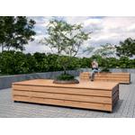 Скамья модульная прямоугольная фото, купить в Липецке | Uliss Trade