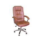 Кресло руководителя из экокожи коричневое H-9005L фото, купить в Липецке | Uliss Trade