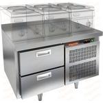Стол морозильный под тепловое оборудование HICOLD GN 2/BT LT фото, купить в Липецке | Uliss Trade