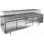 Стол морозильный под тепловое оборудование HICOLD SN 1122/BT LT фото, купить в Липецке | Uliss Trade