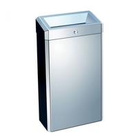 Корзина для мусора с конусным отверстием металлическая  MERIDA STELLA MINI 27 л (полированная) фото, купить в Липецке | Uliss Trade