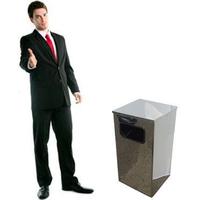 Квадратная урна для мусора 9 л фото, купить в Липецке   Uliss Trade