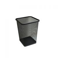 Сетчатая стальная корзина для бумаги 10 л (черная) фото, купить в Липецке   Uliss Trade