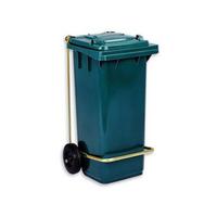 Бак (контейнер) на колесах с педалью для мусора 120 литров синий фото, купить в Липецке | Uliss Trade