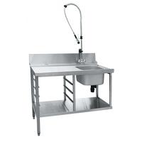 Стол предмоечный СПМП-6-3 для купольных посудомоечных машин фото, купить в Липецке | Uliss Trade